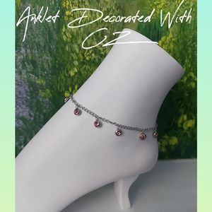 Anklet Decorated With CZ